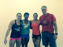 Katie Hogan, Andrea, Becca Voigt and Pete
