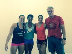 Katie Hogan, Andrea, Becca Voigt and Pete